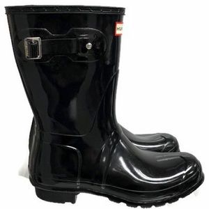 Hunter Gloss Rain Boots Black